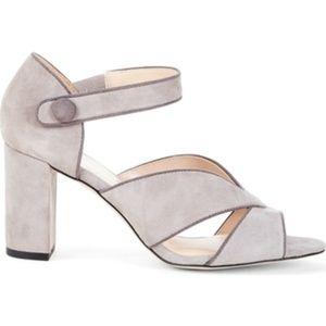 Sole Society Suede Block Heel Sandals - Adena